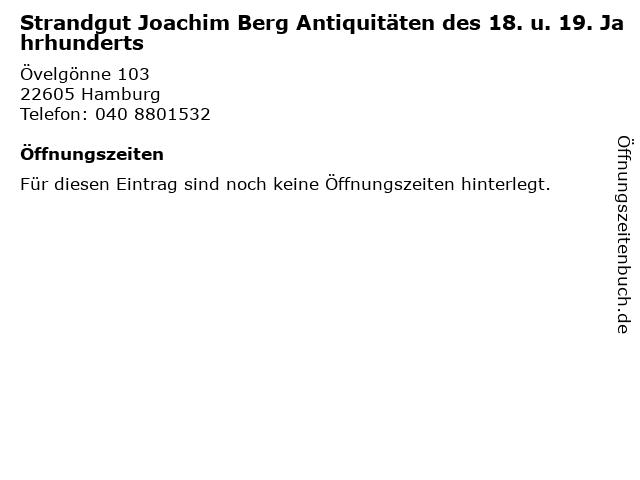 Strandgut Joachim Berg Antiquitäten des 18. u. 19. Jahrhunderts in Hamburg: Adresse und Öffnungszeiten