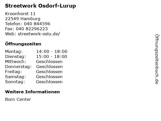 Streetwork Osdorf-Lurup in Hamburg: Adresse und Öffnungszeiten