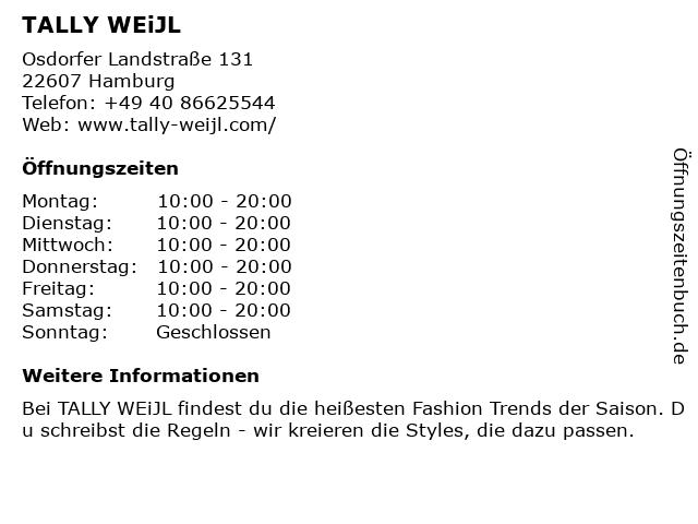 Tally Weijl Deutschland GmbH in Hamburg: Adresse und Öffnungszeiten