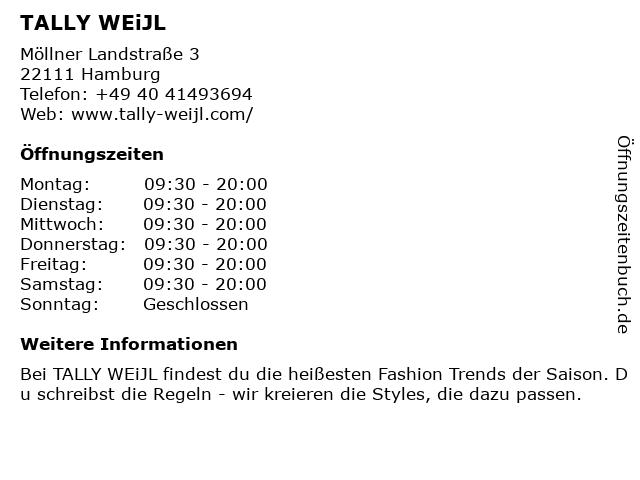 Tally Weijl Retail Germany GmbH in Hamburg: Adresse und Öffnungszeiten