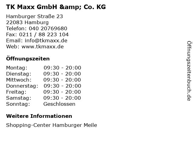 TK Maxx GmbH & Co. KG in Hamburg: Adresse und Öffnungszeiten