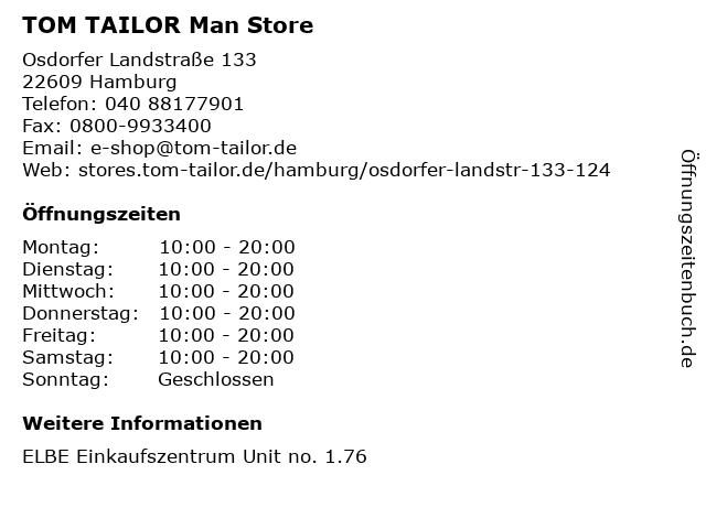 TOM TAILOR Man Store in Hamburg: Adresse und Öffnungszeiten