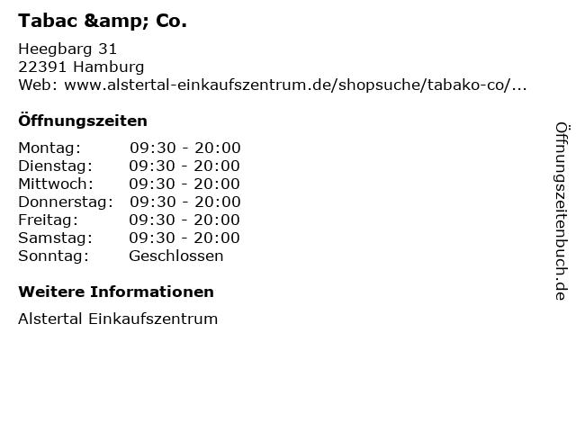 Tabac & Co. in Hamburg: Adresse und Öffnungszeiten