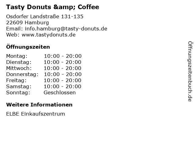 Tasty Donuts & Coffee in Hamburg: Adresse und Öffnungszeiten
