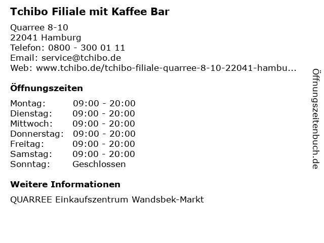 Tchibo GmbH in Hamburg: Adresse und Öffnungszeiten
