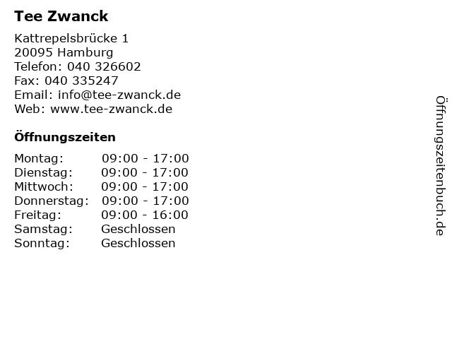Tee Zwanck in Hamburg: Adresse und Öffnungszeiten