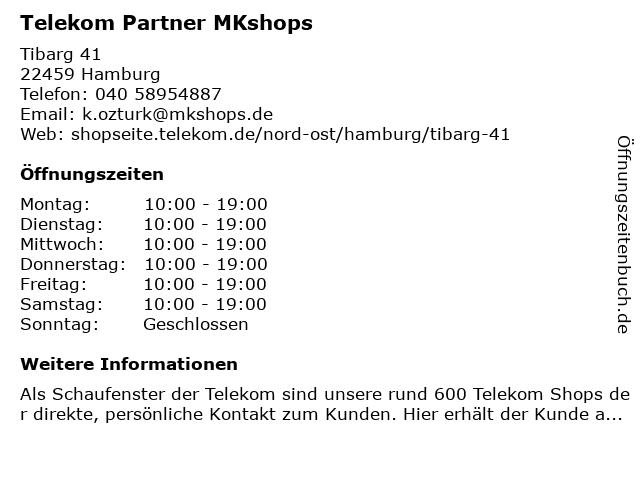 Telekom Shop Hamburg-Niendorf in Hamburg: Adresse und Öffnungszeiten