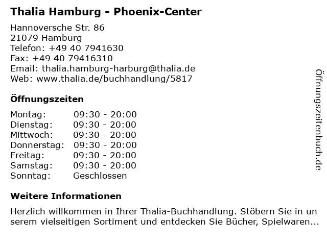 Thalia Hamburg - Phoenix-Center in Hamburg: Adresse und Öffnungszeiten