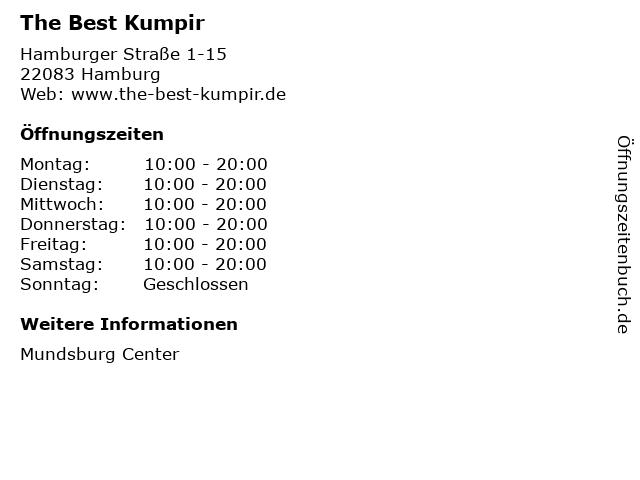 The Best Kumpir in Hamburg: Adresse und Öffnungszeiten