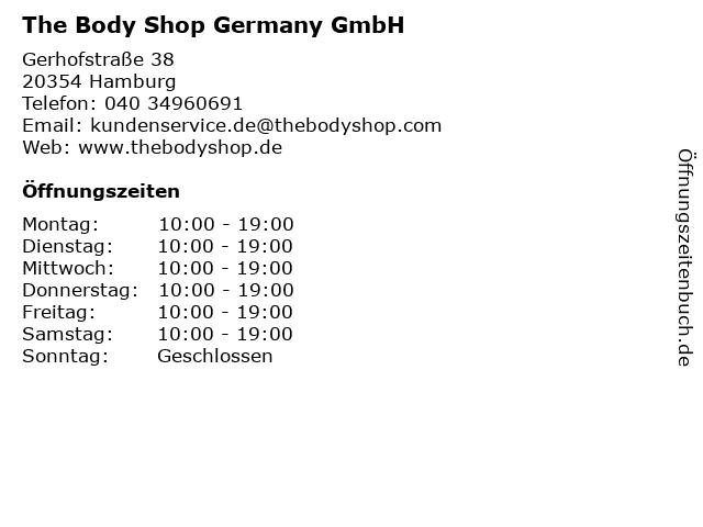 The Body Shop Germany GmbH in Hamburg: Adresse und Öffnungszeiten