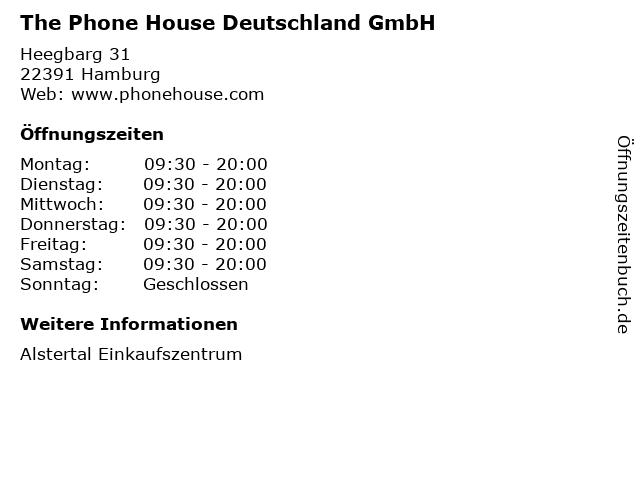 The Phone House Deutschland GmbH in Hamburg: Adresse und Öffnungszeiten