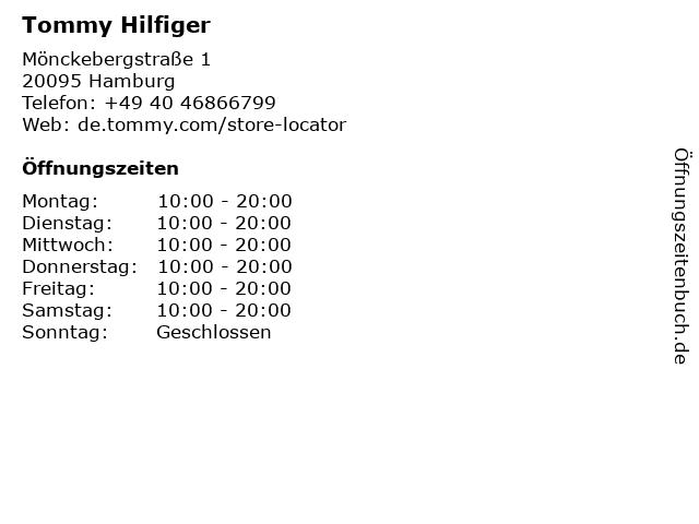 Tommy Hilfiger in Hamburg: Adresse und Öffnungszeiten