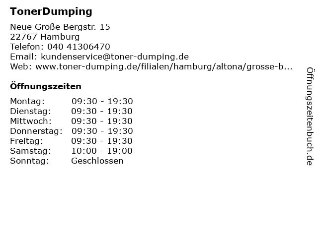 TonerDumping in Hamburg: Adresse und Öffnungszeiten