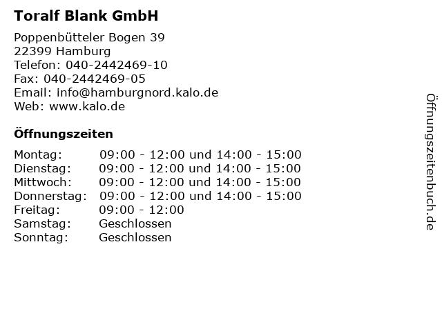 Toralf Blank GmbH in Hamburg: Adresse und Öffnungszeiten
