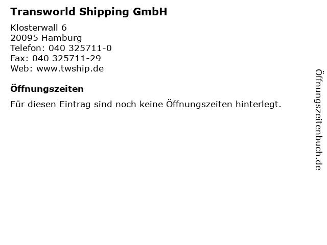 Transworld Shipping GmbH in Hamburg: Adresse und Öffnungszeiten