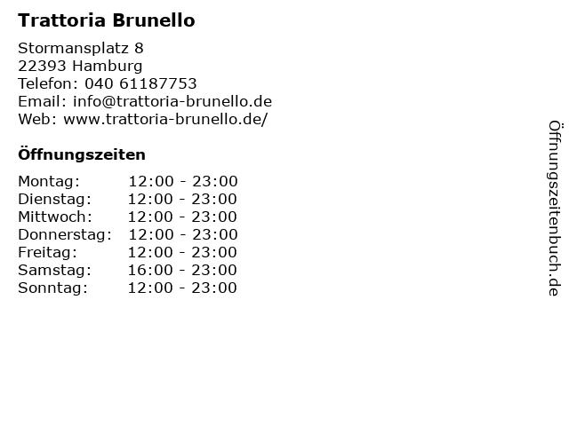 Trattoria Brunello in Hamburg: Adresse und Öffnungszeiten