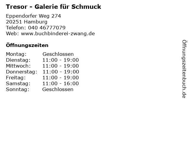 Tresor - Galerie für Schmuck in Hamburg: Adresse und Öffnungszeiten