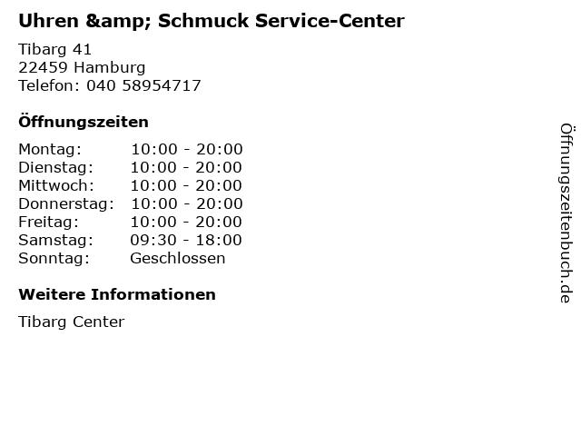 Uhren & Schmuck Service-Center in Hamburg: Adresse und Öffnungszeiten