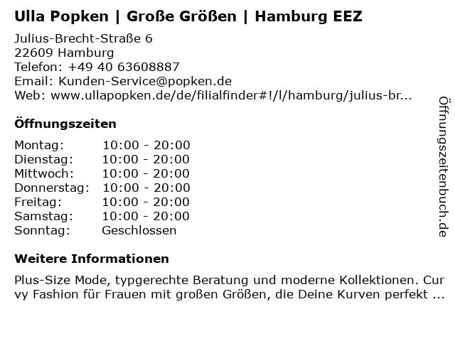 Ulla Popken GmbH in Hamburg: Adresse und Öffnungszeiten