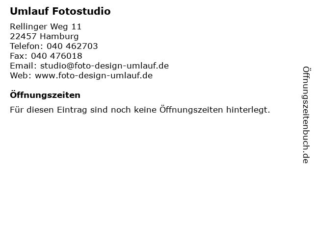 Umlauf Fotostudio in Hamburg: Adresse und Öffnungszeiten