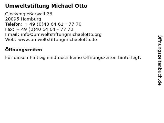Umweltstiftung Michael Otto in Hamburg: Adresse und Öffnungszeiten