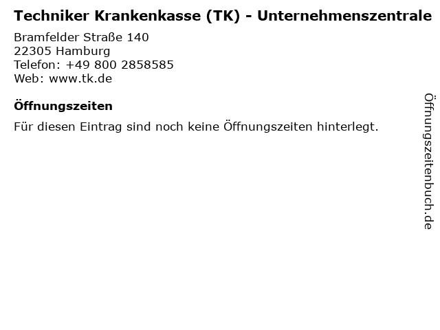 Unternehmenszentrale der Techniker Krankenkasse (TK) in Hamburg: Adresse und Öffnungszeiten