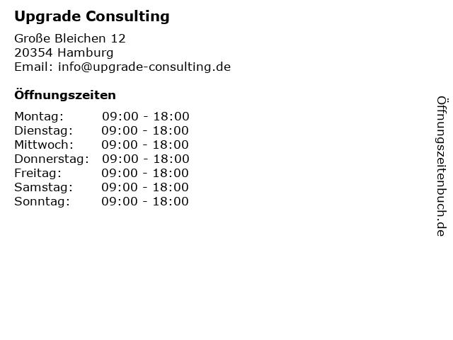 Upgrade Consulting in Hamburg: Adresse und Öffnungszeiten