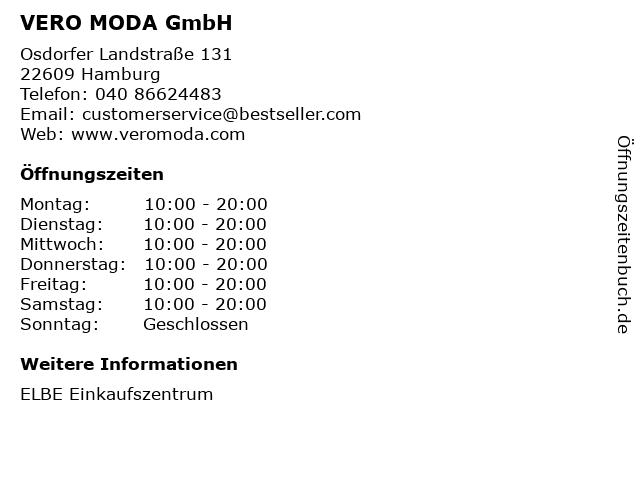 VERO MODA GmbH in Hamburg: Adresse und Öffnungszeiten
