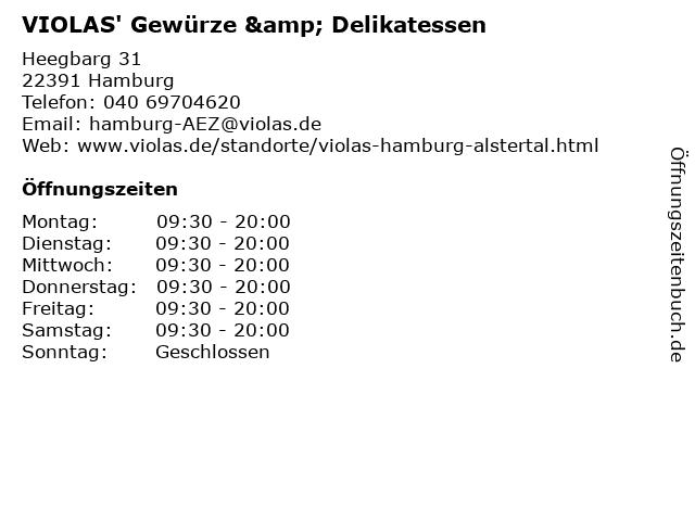 VIOLAS' Gewürze & Delikatessen in Hamburg: Adresse und Öffnungszeiten