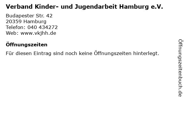 Verband Kinder- und Jugendarbeit Hamburg e.V. in Hamburg: Adresse und Öffnungszeiten