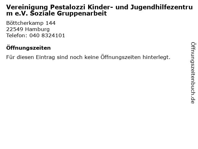 Vereinigung Pestalozzi Kinder- und Jugendhilfezentrum e.V. Soziale Gruppenarbeit in Hamburg: Adresse und Öffnungszeiten