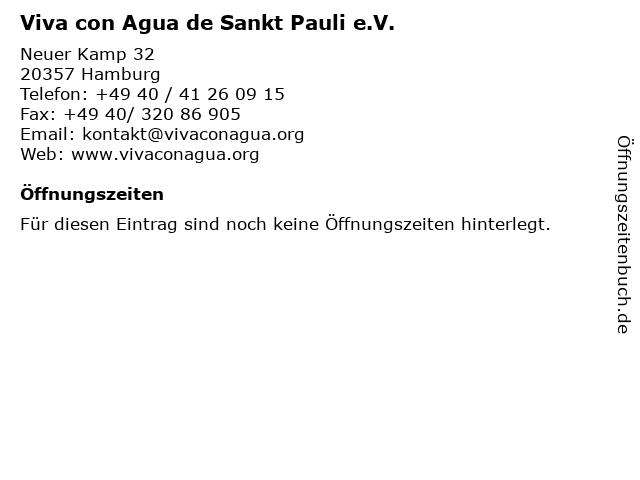 Viva con Agua de Sankt Pauli e.V. in Hamburg: Adresse und Öffnungszeiten