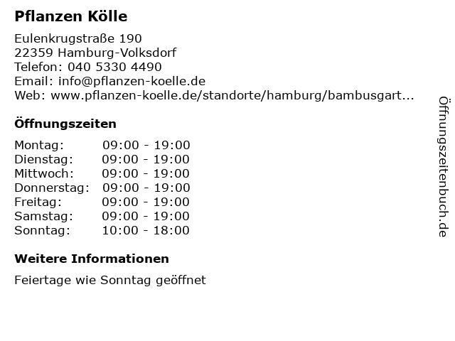 ᐅ Offnungszeiten Pflanzen Kolle Eulenkrugstrasse 190 In