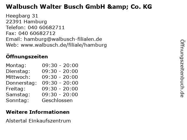 Walbusch Walter Busch GmbH & Co. KG in Hamburg: Adresse und Öffnungszeiten