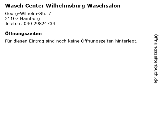 ᐅ öffnungszeiten Wasch Center Wilhelmsburg Waschsalon Georg