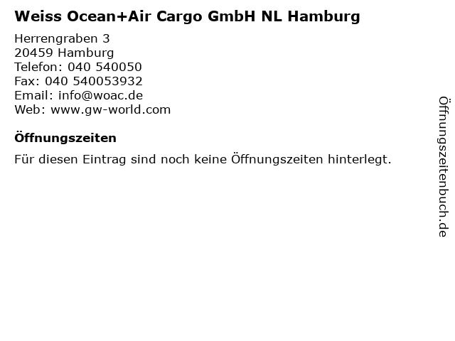 Weiss Ocean+Air Cargo GmbH NL Hamburg in Hamburg: Adresse und Öffnungszeiten