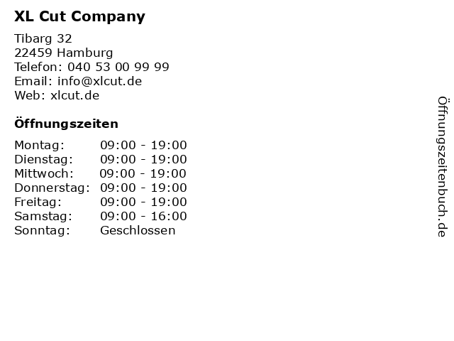 XL Cut Company in Hamburg: Adresse und Öffnungszeiten