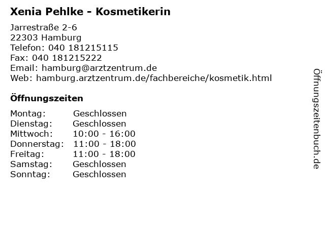 Xenia Pehlke - Kosmetikerin in Hamburg: Adresse und Öffnungszeiten