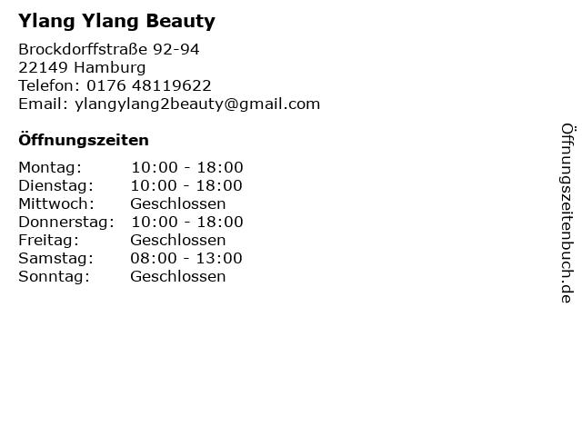 Ylang Ylang Beauty in Hamburg: Adresse und Öffnungszeiten