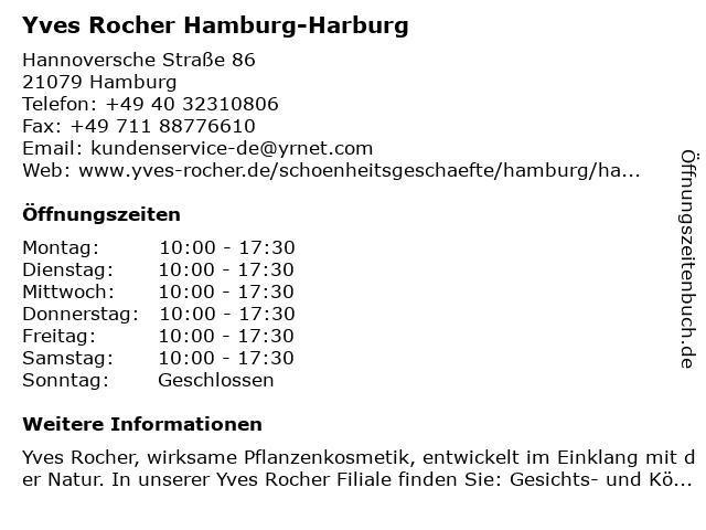 Yves Rocher Hamburg-Harburg in Hamburg: Adresse und Öffnungszeiten