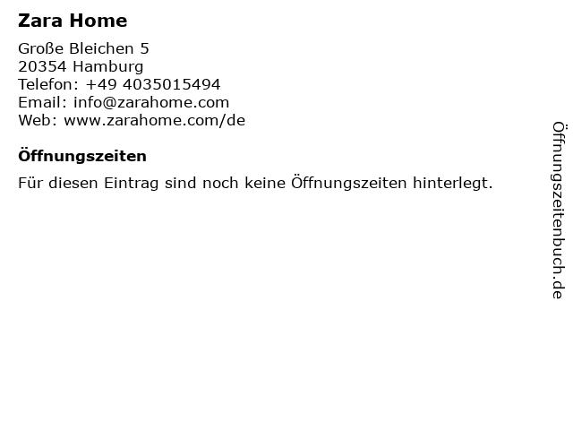 ᐅ öffnungszeiten Zara Home Große Bleichen 5 In Hamburg