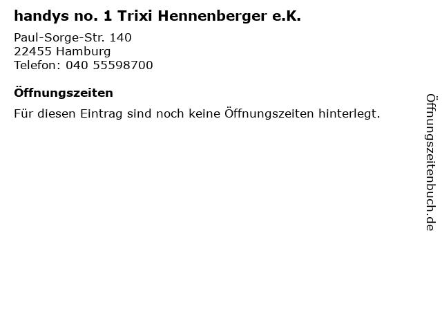handys no. 1 Trixi Hennenberger e.K. in Hamburg: Adresse und Öffnungszeiten