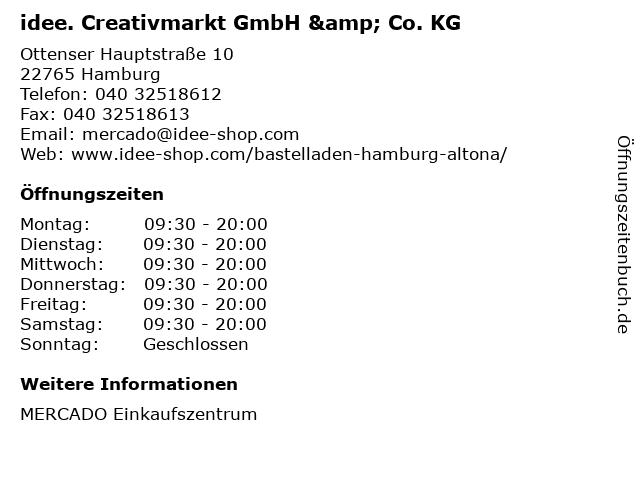 idee. Creativmarkt GmbH & Co. KG in Hamburg: Adresse und Öffnungszeiten
