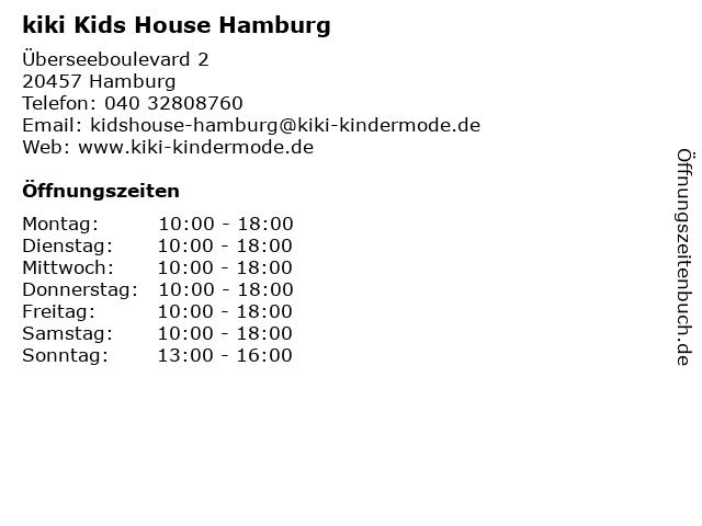 kiki Kids House Hamburg in Hamburg: Adresse und Öffnungszeiten