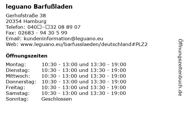leguano Barfußladen in Hamburg: Adresse und Öffnungszeiten