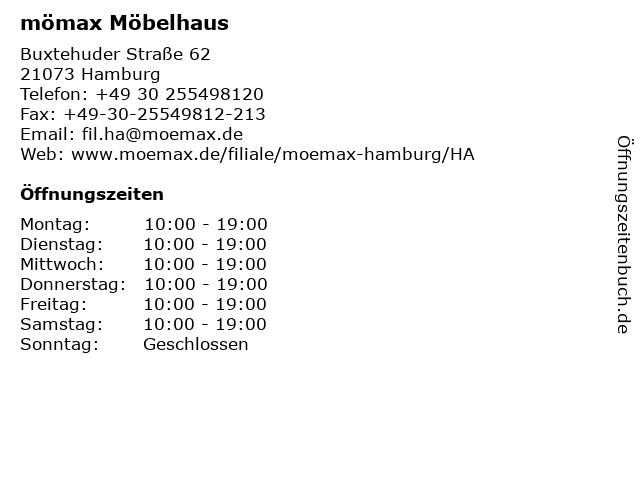 ᐅ öffnungszeiten Mömax Möbelhaus Hamburg Buxtehuder Straße 62
