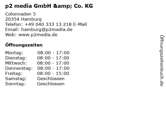 p2 media GmbH & Co. KG in Hamburg: Adresse und Öffnungszeiten