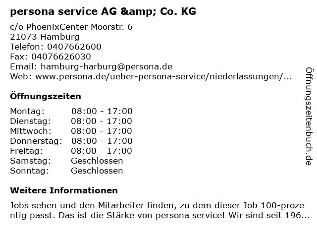 persona service AG & Co. KG in Hamburg: Adresse und Öffnungszeiten