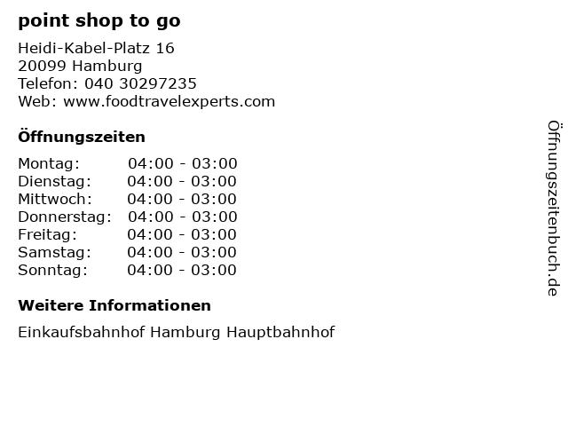 point shop to go in Hamburg: Adresse und Öffnungszeiten