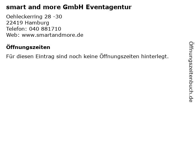 smart and more GmbH Eventagentur in Hamburg: Adresse und Öffnungszeiten